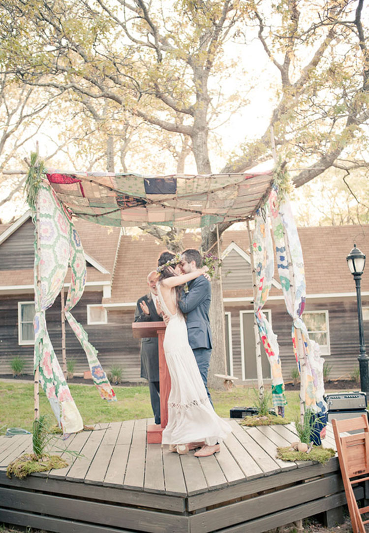 Quilted chuppah