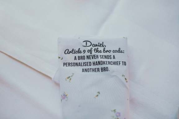 wedding handkerchief favours