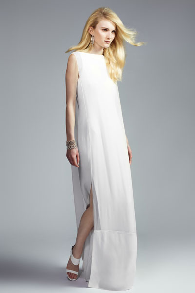 Chalayan's simple crepe column dress with silk crepe overlay £1295