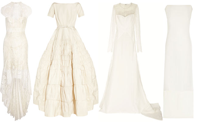 A selection from Net-a-Porter's exclusive bridal collection