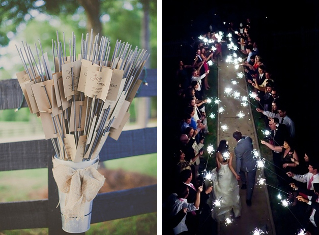 sparklers as favour ideas