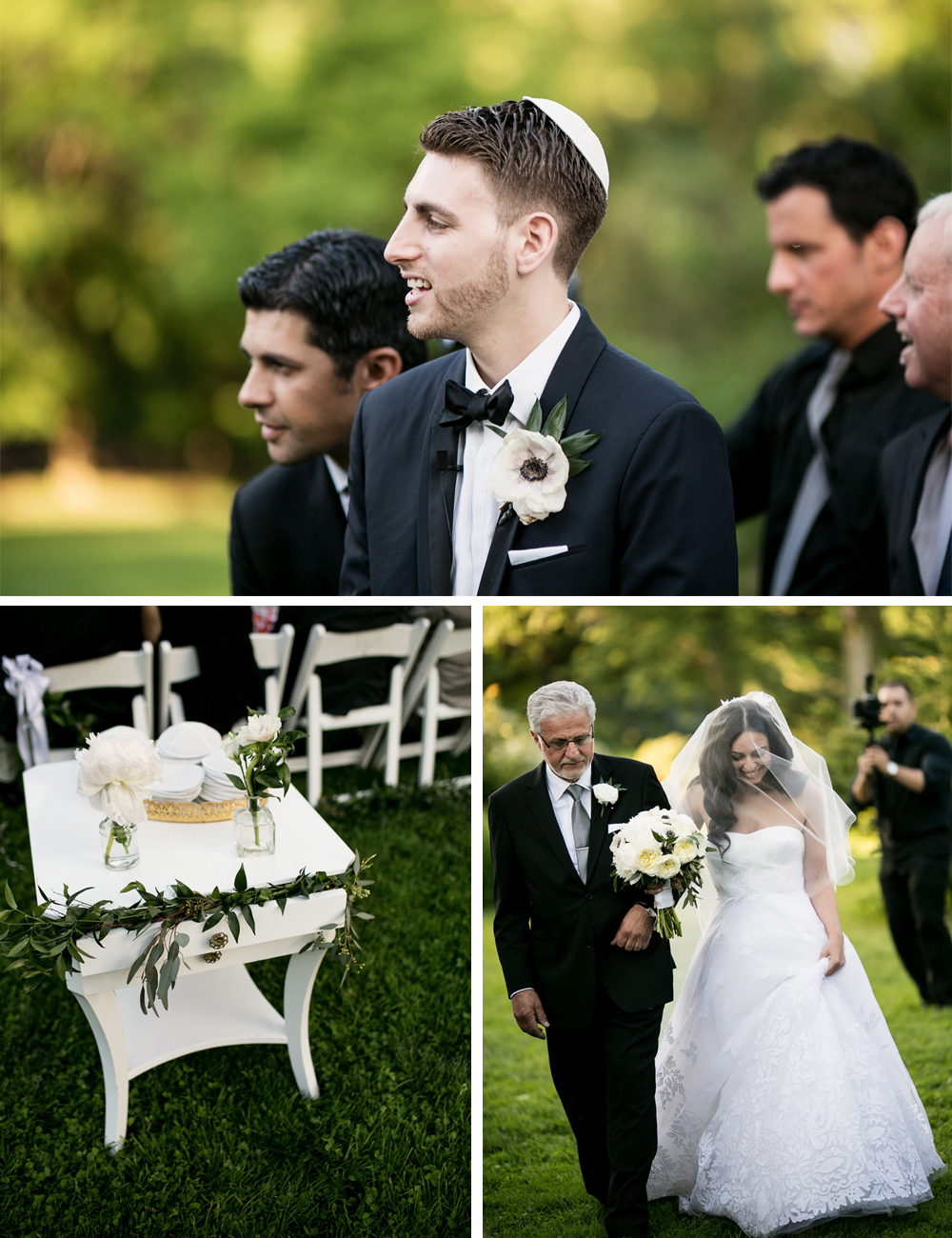 Jewish Greek Wedding at Brooklyn Botanical Garden New York aisle