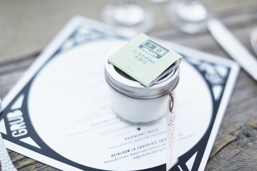 scented candle favours