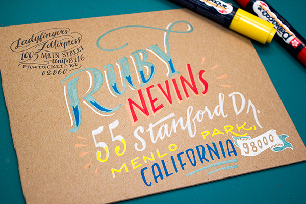 A wonderful tutorial on creating stunning hand lettered envelopes