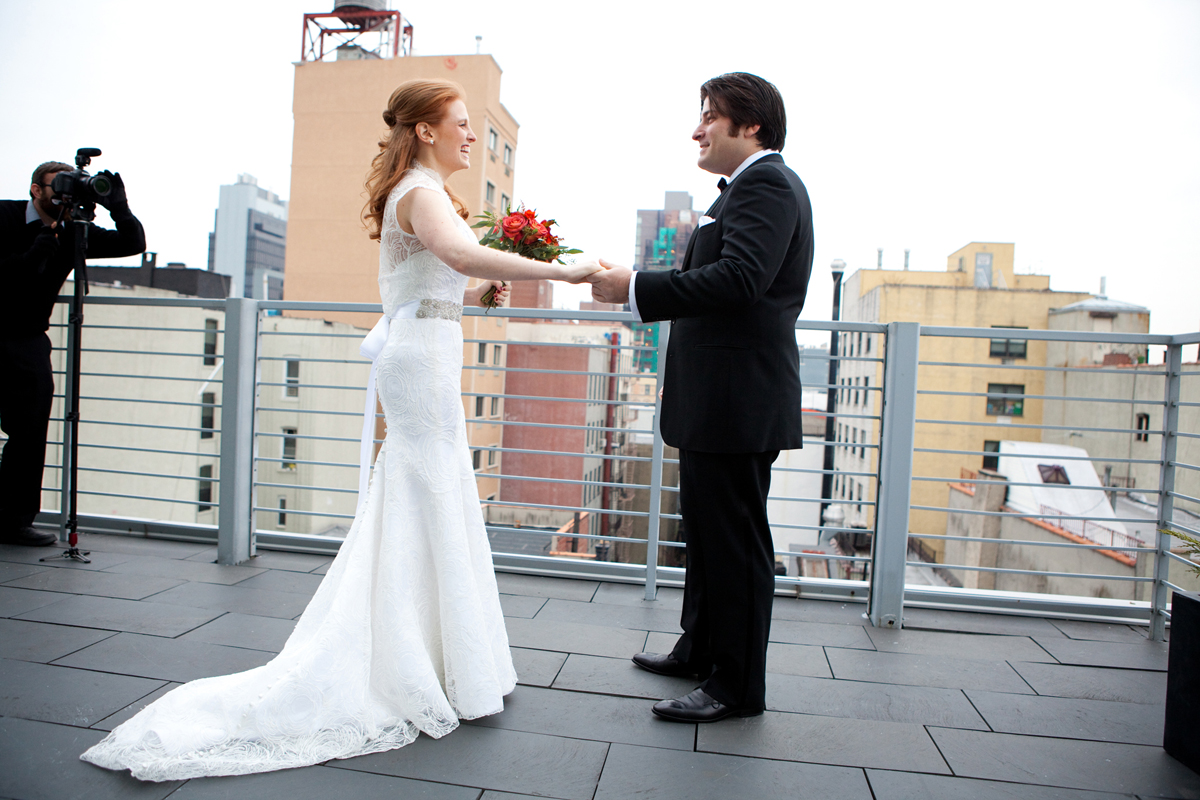 Autumn city rustic Jewish wedding at the spectacular Angel Orensanz Foundation, Lower East Side, New York City 013