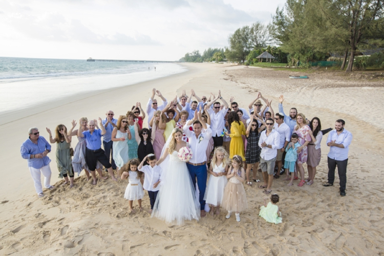 Jewish beach wedding + pool party at Grand Satis Villa, Phang Nga Bay, Thailand