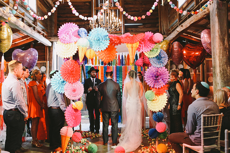 Super colourful chuppah