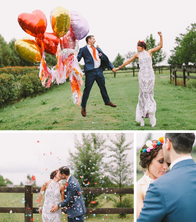 creative 'colour explosion' Jewish wedding at the Sydney Polo Club, NSW, Australia