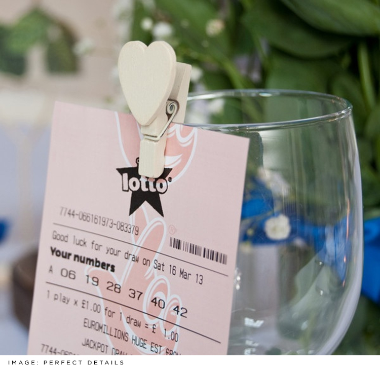 Wedding Favour Lottery Ticket