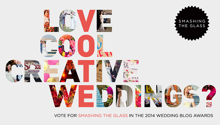 Vote Smashing The Glass Wedding Blog Awards