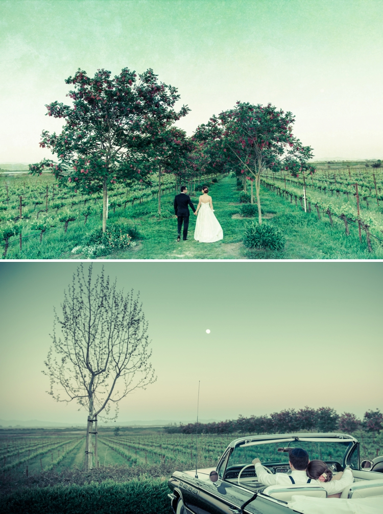 Wine-themed vintage glamour Jewish wedding at Jacuzzi Family Vineyards, Sonoma, California_0006