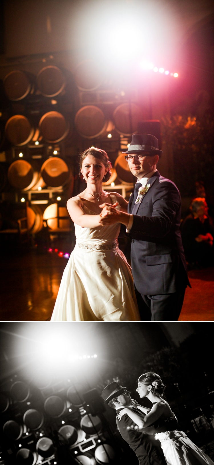 Wine-themed vintage glamour Jewish wedding at Jacuzzi Family Vineyards, Sonoma, California
