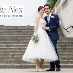 Ros & Alex | Contemporary cool Jewish wedding with 50's and 60's touches, at The ICA (Institute of Contemporary Arts), London, UK