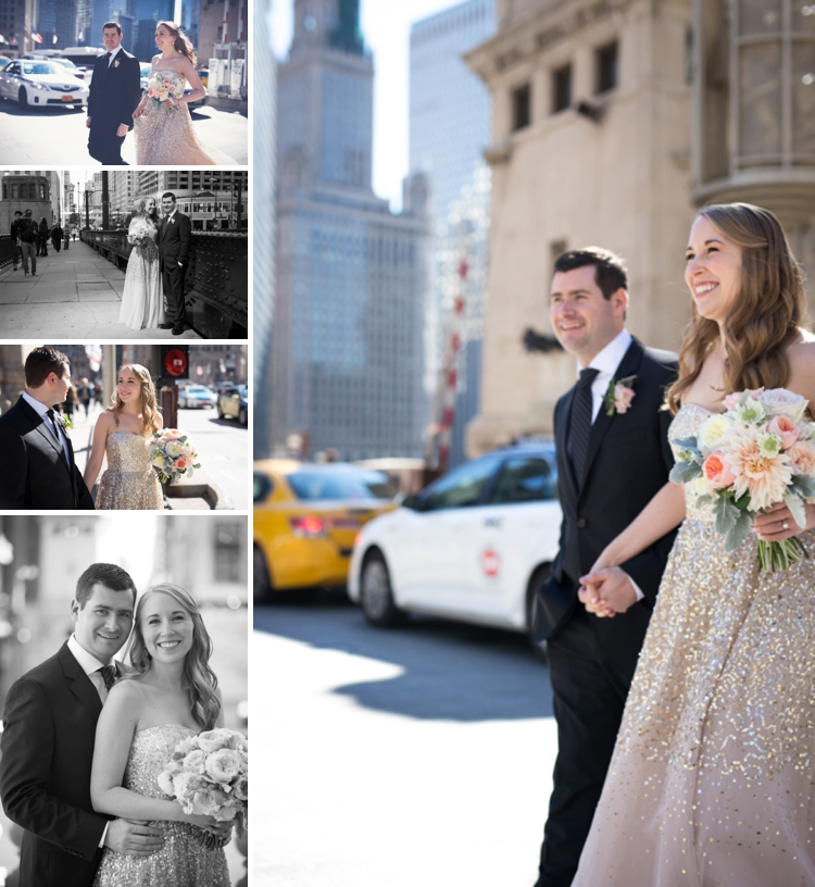 Gold and blush Jewish Wedding at South Branch restaurant, Chicago, Illinois, USA_0009