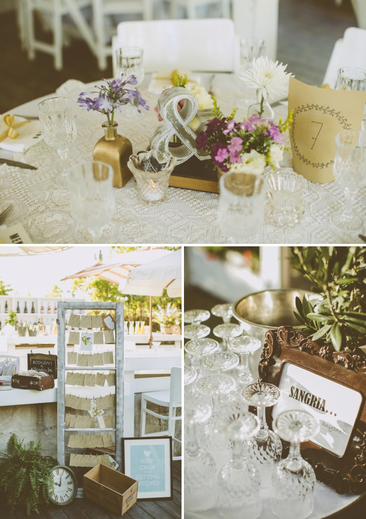 Rustic, vintage-chic, relaxed outdoor wedding with Parisian influences at Bianca, Moshav Ginaton, Israel