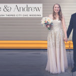 Susie & Andrew | Gold themed city-chic Jewish Wedding at South Branch, Chicago, with the bride in a sequin-covered wedding dress!