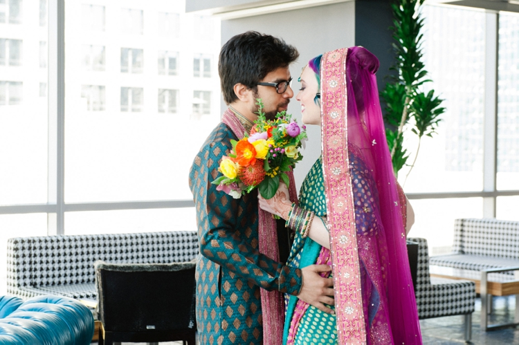 Colourful fusion Hindu Jewish 'HinJew' wedding at theWit, Chicago, Illinois, USA_0031