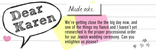 Jewish wedding question