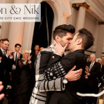 Simon & Nik | 'Black & White and Chic All Over' same sex Jew-ish wedding at Sunbeam Studios, London, UK