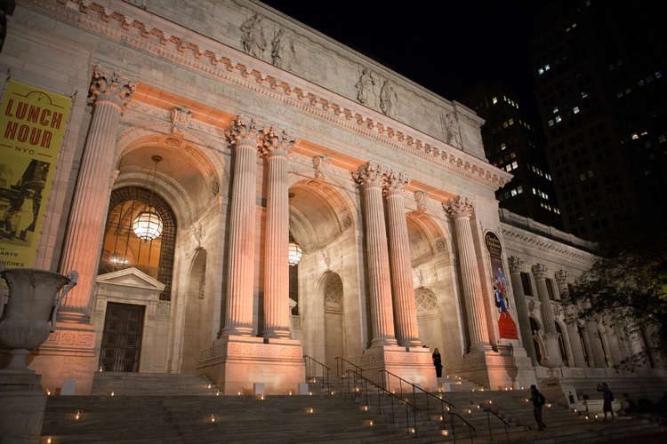 book-themed wedding at the New York Public Library