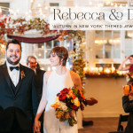 Rebecca & Daniel | An 'Autumn in New York' themed Jewish wedding with Mexican influences, and the bride in a jumpsuit, at Palm Door, Austin, Texas, USA