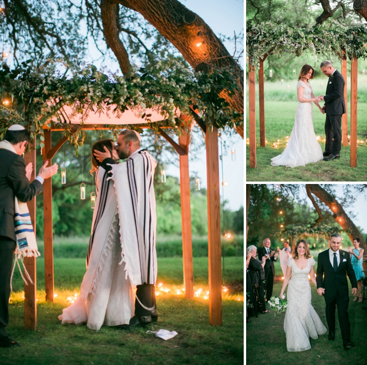Outdoor Jewish Wedding With A Vintage Botanical Theme At