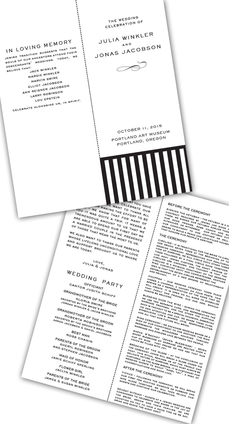 Reform-Wedding-Program
