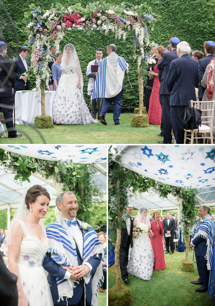 Stephanie Allin bride for an English country garden Jewish wedding