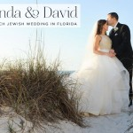 A Hayley Paige bride for a 'seashore & sequins' Jewish wedding on the beach at Sandpearl Resort, Clearwater Beach, Florida, USA