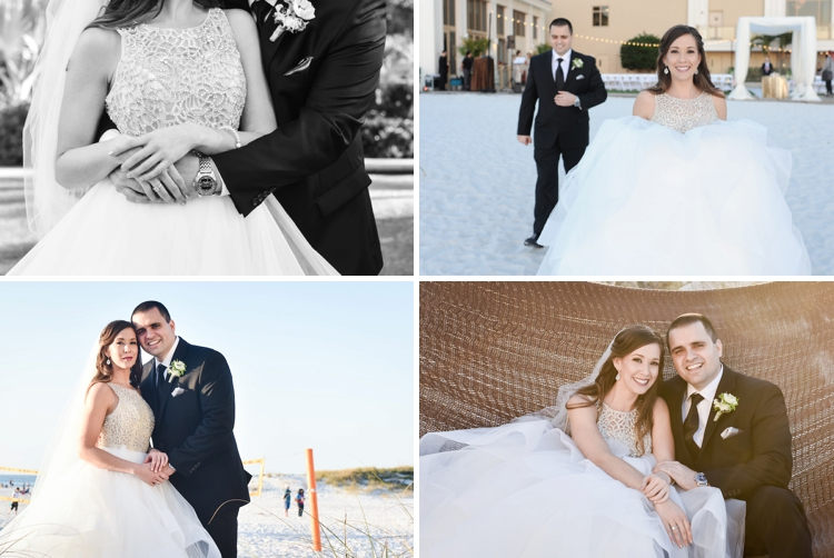 A Hayley Paige Bride For A Seashore Amp Sequins Jewish Wedding On The Beach At Sandpearl Resort