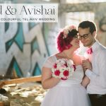A Pink 'geeky-fairytale' Jewish wedding at East-TLV, Tel Aviv, Israel