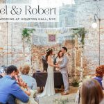 A Boho bride for a rustic 'beer garden' Jewish wedding at Houston Hall, New York City, USA