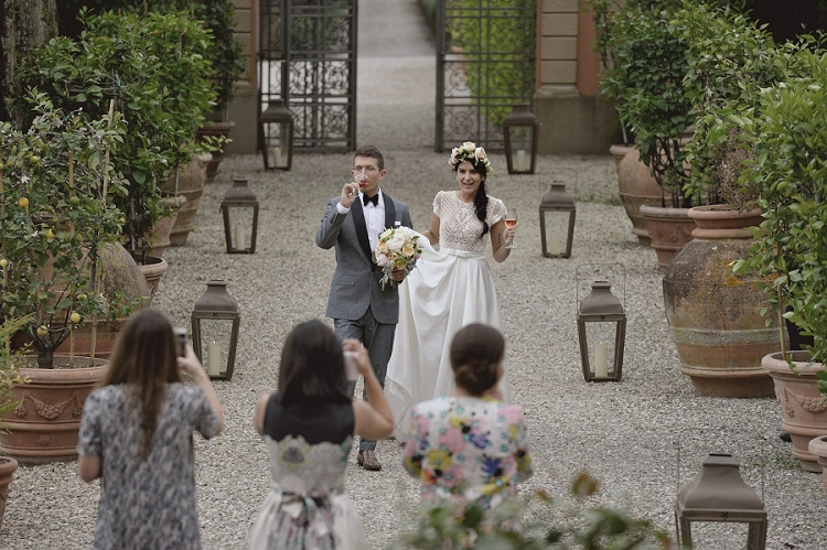 An Intimate Jewish Wedding At Villa Mangiacane Tuscany Italy With A Bespoke Gown By Inbal