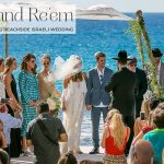 A breathtaking beachside Jewish wedding with a Victor Vivi Balaish bride and a performance by Rami Kleinstein at Al Hayam, Caesarea, Israel