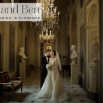 A music and art-filled Jewish wedding with Monique Lhullier and Jenny Packham gowns at the Great Synagogue and Four Seasons Hotel in Florence, Italy