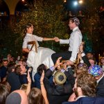 A creative indoor forest Jewish wedding with a Ritva Westenius bride at One Embankment, London, UK