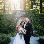 A Henry Roth Bride for a Magical Rock Garden Jewish Wedding at The Mount, Lenox, Massachusetts, USA