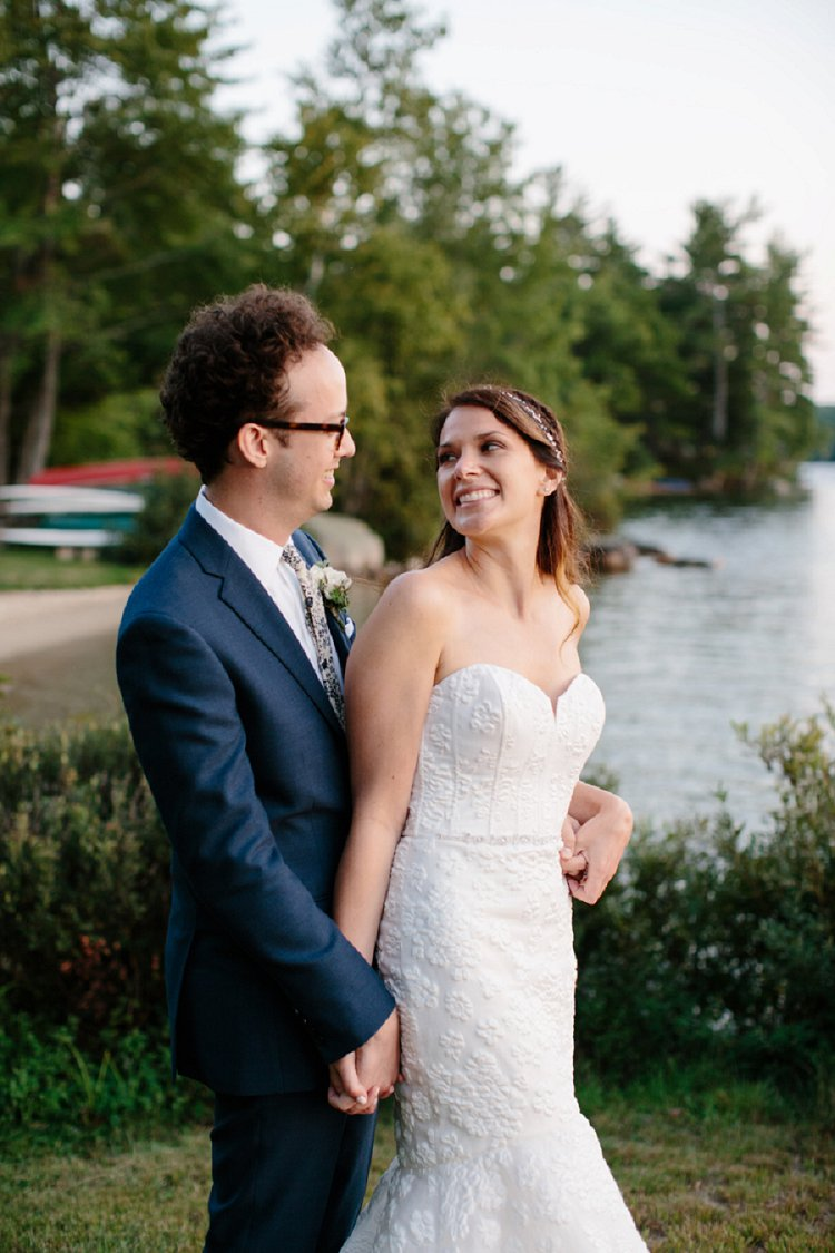 An Amsale Bride For A Summer Camp Themed Jewish Wedding At Kamp Kohut Oxford Maine US