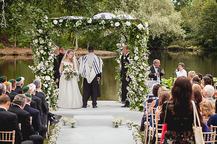 Jewish wedding at Thornton Manor Lakeside Marquee UK