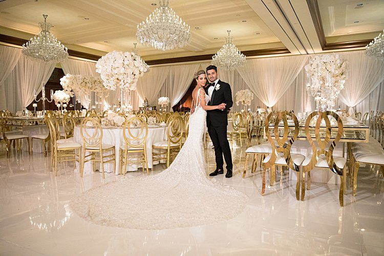 A Galia Lahav Bride For A Super Luxe White And Gold Jewish Wedding At The Four Seasons Westlake