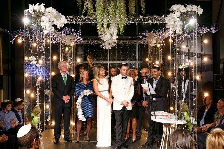 Chuppah ideas smashing the glass jewish wedding blog a show stopping wooden chuppah with lace on top for rachael and ryans industrial boho chic jewish wedding in atlanta junglespirit Choice Image