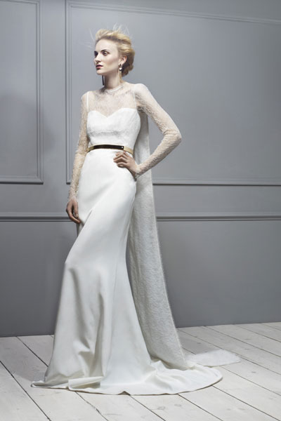 Antonio Berardi's caped back silk crepe long-sleeve gown is  £9,039