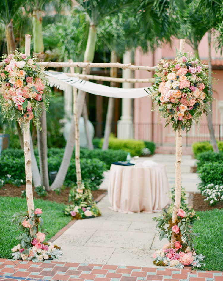 birch rose chuppah