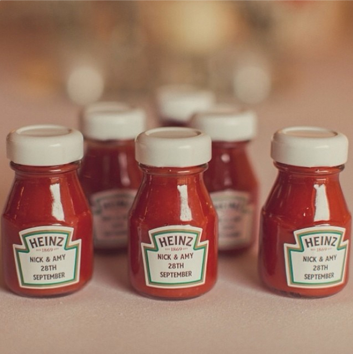 Ketchup Bottles Wedding Favours