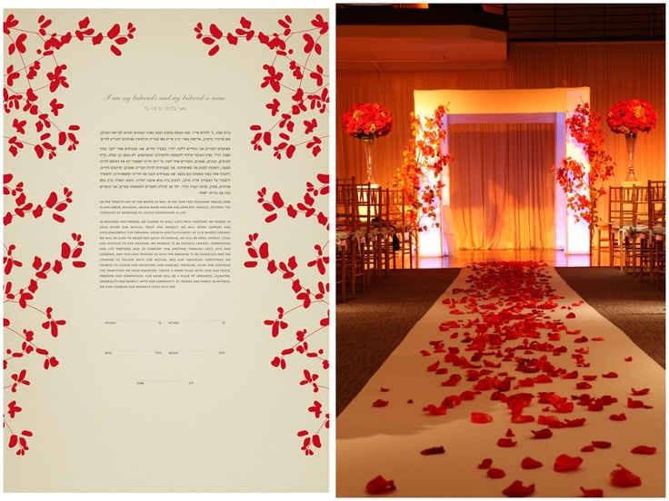 Ketubah Inspired chuppah Inspiration - Red