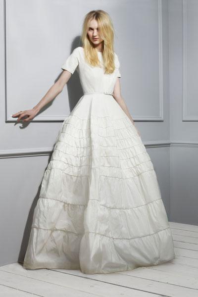 Rochas' taffeta-twill gown with skinny belt £5,517