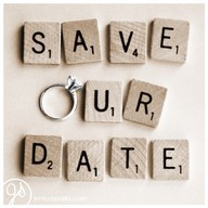 Scrabble lovers Save The Date
