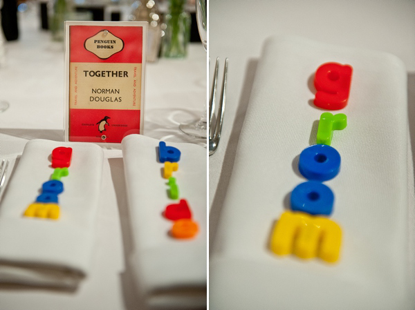 Magnetic letter wedding placenames