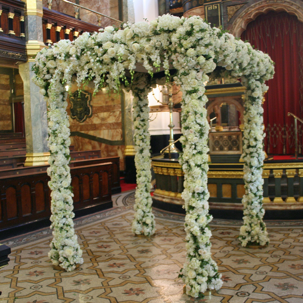 White rose chuppah West London Synagogue