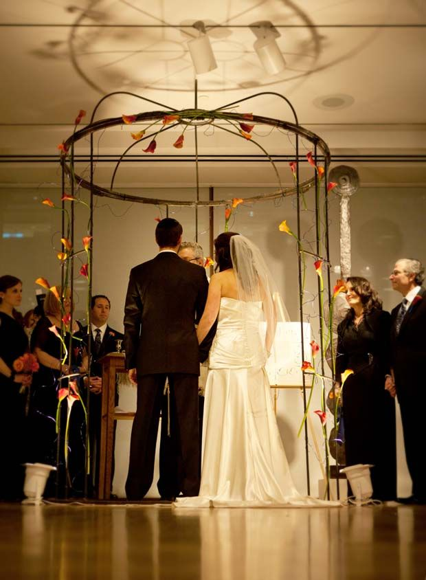 Wire Bird cage Inspired Chuppah